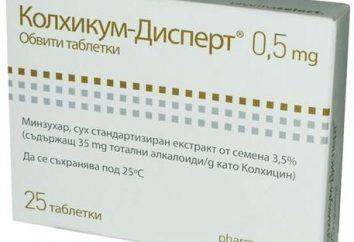 La médecine contre les attaques aiguës de goutte, « kolhikum-dispert »