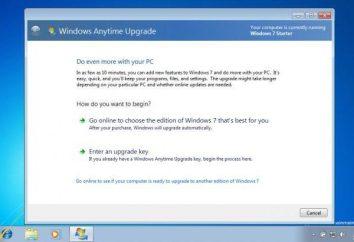 Rozszerzone funkcje systemu Windows 7 przy użyciu Windows Anytime Upgrade