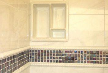 Esquina cerámica para el baño: elección e instalación