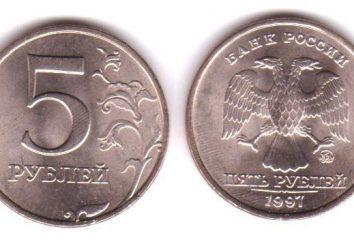 Combien coûte 5 roubles 1997? Billets et leurs variétés