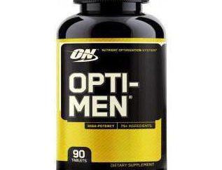 Vitamines « Opti-Men »: mode d'emploi et commentaires