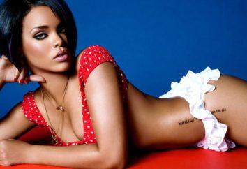 Wszystko tatuaż Rihanny. Rihanna Tatuaże: zdjęcia i wartości