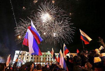 Crimea como parte da Rússia. O retorno da Criméia para a Rússia
