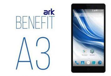 Teléfono Inteligente arca Beneficio A3: opiniones, opinión, las especificaciones