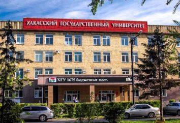 Khakass State University N. F. Katanova (KSU): adres, zawód, warunki dochodowe