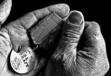 Ce qui a donné la médaille « pour le courage »? commandes de combat et des médailles de l'Union soviétique