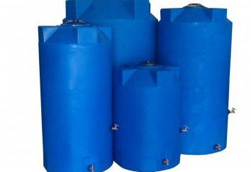 Réservoir de stockage pour l'eau: la variété et le choix des caractéristiques