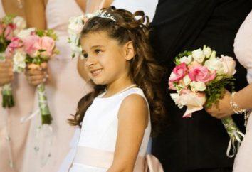 Fryzura dla dzieci dla długich włosów z diademem