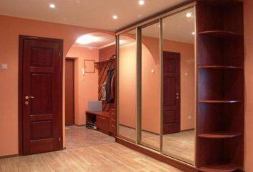 Szafy w korytarzu i sypialni: wewnętrzny zespół napełniania
