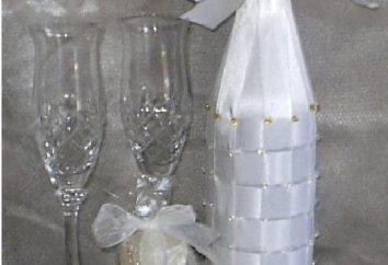 bouteille intéressante. Accessoires de mariage