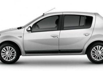 « Renault Sandero »: réglage et spécifications