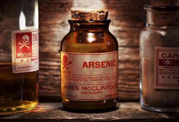Arsensäure: Chemische Zusammensetzung der Formel. sehr gefährlicher Stoff