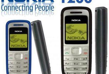 """Telefono Descrizione """"Nokia"""" 1200: Caratteristiche"""