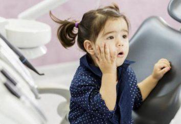 La dent est malade chez l'enfant: comment anesthésier