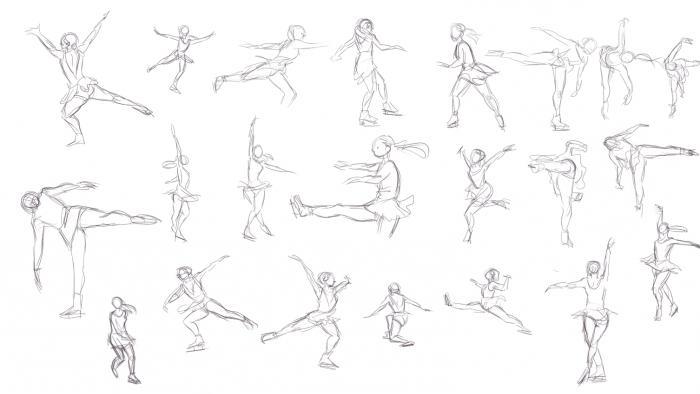 bewegung menschen zeichnen