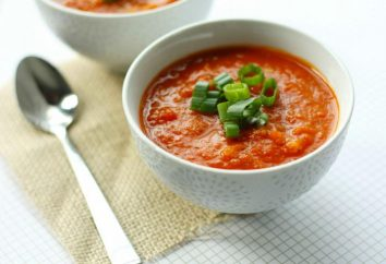 zuppa di pomodoro. Crema di zuppa di pomodoro: Ricetta, foto