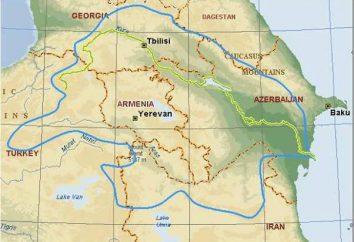 araks río – el flujo de agua de Armenia, Turquía y Azerbaiyán