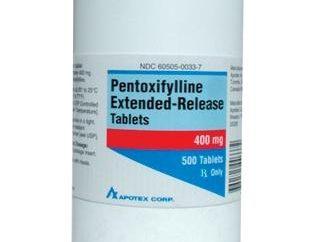 Drogues « pentoxifylline »: critiques et utilisation