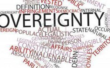 La sovranità implica … Il concetto, tipi di sovranità. la sovranità nazionale