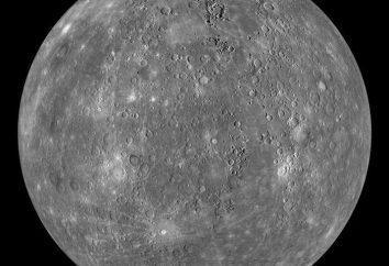 Peso Mercury. Il raggio del pianeta Mercurio