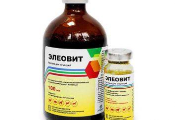 """Vitamina preparação """"Eleovit"""": Instrução para uso em medicina veterinária"""