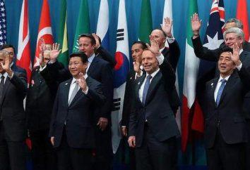 Los veinte grandes (G20): composición. Los países del G20
