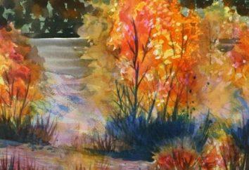 Nauka narysowania jesieni: krajobraz z drzewem