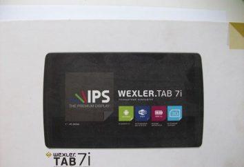 Tablet Wexler TAB 7i: przegląd, specyfikacje, opinie