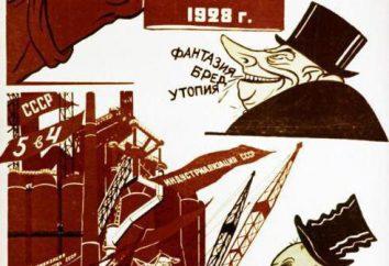 Fünfjahresplan in der Sowjetunion: Die Tabelle, die Jahre, die großen Bauvorhaben. sozialistische Industrialisierung