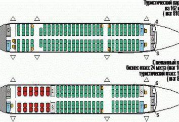"""Samolot """"Tu-204"""": schemat wnętrze"""
