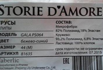 """Produkte der Firma """"Faberlic"""": Unterwäsche. Bewertungen, Modelle, Größen"""