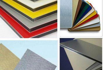 Aluminium-Verbundplatten: Bewertungen, Beschreibungen, Hersteller und Installationsfunktionen