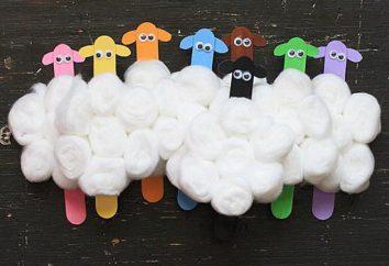 Como fazer aplicações a partir dos discos de algodão com a criança?