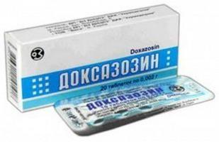 """""""Doxazosin"""" Medizin. Gebrauchsanweisung und Beschreibung"""