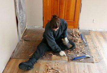 Como alinhar o piso de madeira sem quebrar a placa, em uma casa particular?
