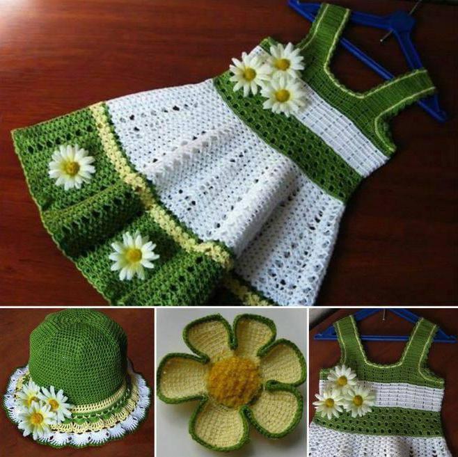 Wie ist das Muster: ein Kleid für Mädchen 1 Jahr