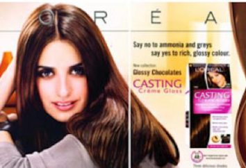 "Cores de cabelo profissionais ""Loreal Casting"""