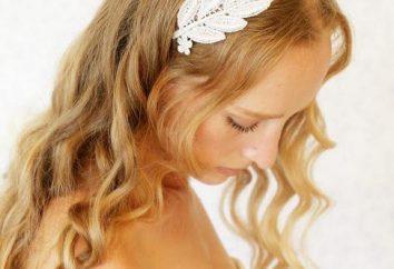 Greckie fryzury z bandażem na włosach.