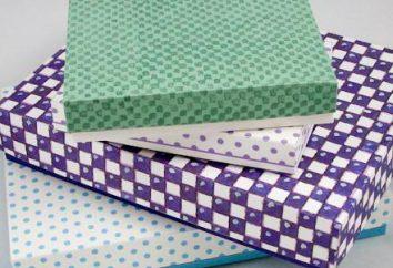 Jak wkleić na pudełko z papieru – mistrzowską klasę. Jak wkleić nad okrągłą pole papieru