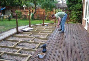 La instalación de terrazas. características de los materiales