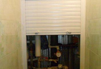 Fensterläden in der Toilette Sanitärschrank