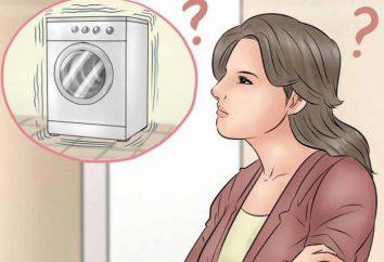 Por que a máquina de lavar roupa pula quando pressionada? Causas de vibração e sua eliminação