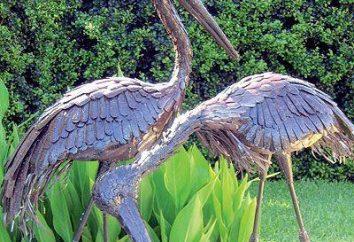 Stork jardin avec ses propres mains: trois façons uniques de l'artisanat à partir de matériaux de rebut