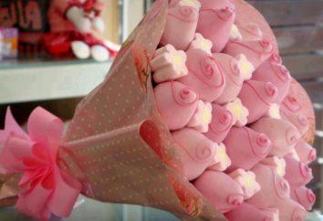 O presente original de chocolates com as próprias mãos