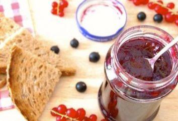 Jam fait de groseilles rouges: recettes pour tous les goûts