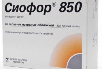 """Lek """"Siofor 850"""": opinie odchudzających, instrukcje użytkowania i składu"""