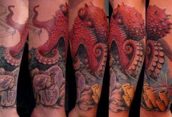 """Tatuaż """"ośmiornica"""": Wartość, legendy i mity, wybór miniatur"""