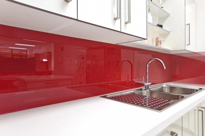Pannello parete per la cucina foto di plastica vetro pannelli