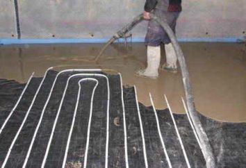 chape de sol en béton pour le plancher de l'eau chaude