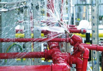 Instalacja systemu automatycznego gaszenia pożarów. alarmy przeciwpożarowe